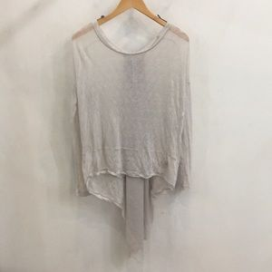 "Free people sheer sweater with back ""train"" detail"